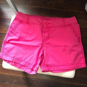 Hot pink Maurices jean shorts